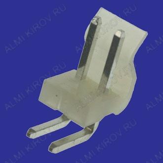 Разъем PWL-02R Вилка на плату, угловая, 2к, 3.96