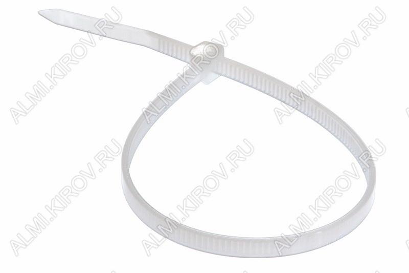 Стяжка кабельная 300*3,6 мм белая (100шт)