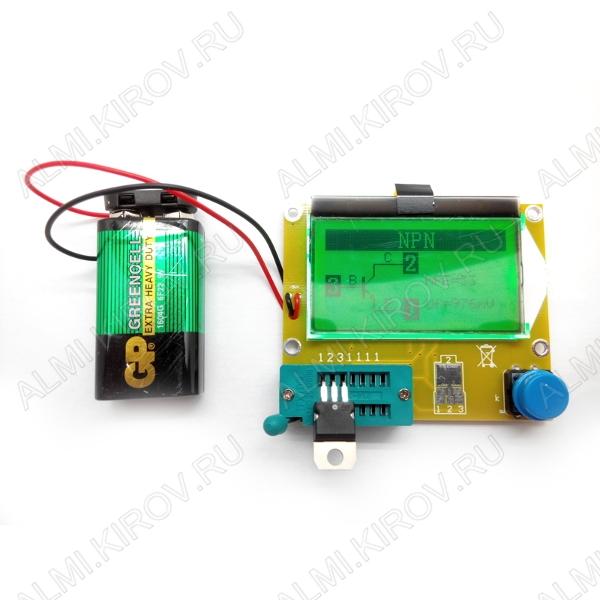 Тестер радиокомпонентов MP700, для проверки параметров и исправности электронных компонентов Тестер для проверки параметров и исправности электронных компонентов (R/L/C, N/P/M, ESR)