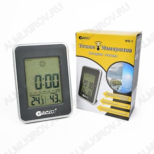 Термометр цифровой WS-1 Измерение внутренней температуры и влажности. часы