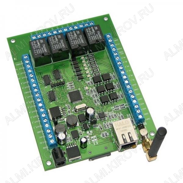 Радиоконструктор Реле Internet + GSM MP718 Laurent-2G (Распродажа) Модуль для удаленного управления в локальных сетях. Даже при отсутствии Интернета, можно получить информацию о состоянии компьютерной сети.