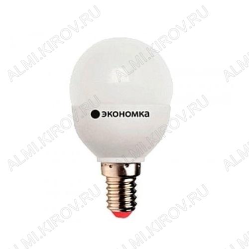 Лампа светодиодная 220В/  7Вт/ E14/ 4500К (дневной белый) (L232)/ 560lm (Eco_LED7wGL45E1445);