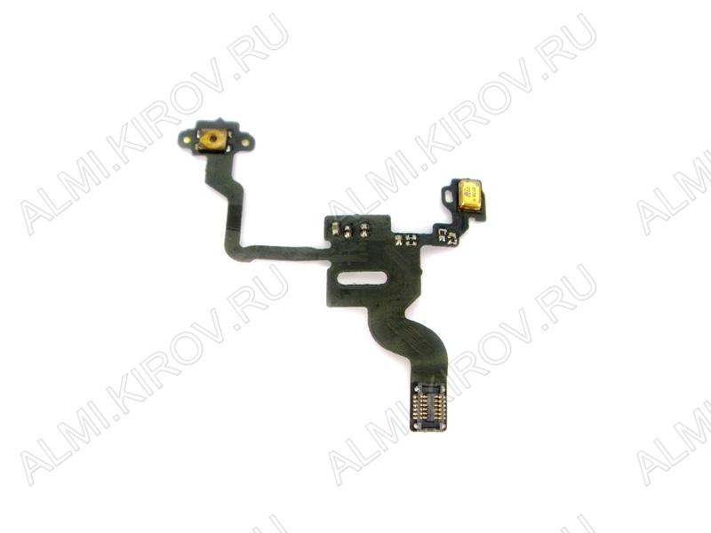 Шлейф для iPhone 4S + кнопк включения + светочувствительный элемент
