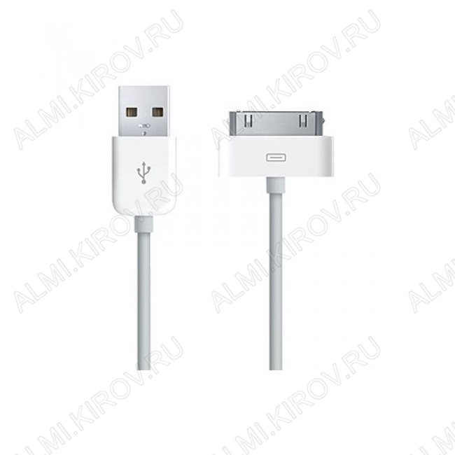 Датакабель iPhone 30pin 1.0м, белый (Original)