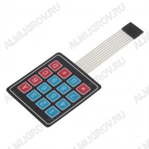 Модуль Клавиатура гибкая матричная 16 кнопок 4х4 Максимальное напряжение: 35 В; Максимальный ток: 100 мА; Размеры: 77x68x1 мм; Сопротивление изоляции: 100 МОм; Вес: 10 г