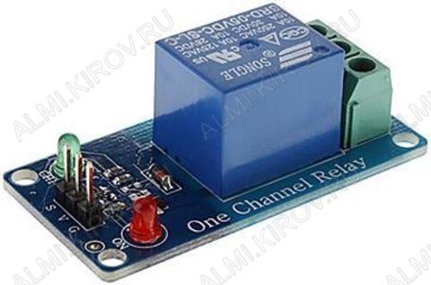 Радиоконструктор Модуль реле 1 канал 12В RA004 (коммутация до 250В 10А)