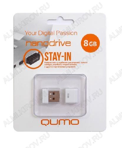 Карта Flash USB 8 Gb (NanoDrive White mini) USB 2.0