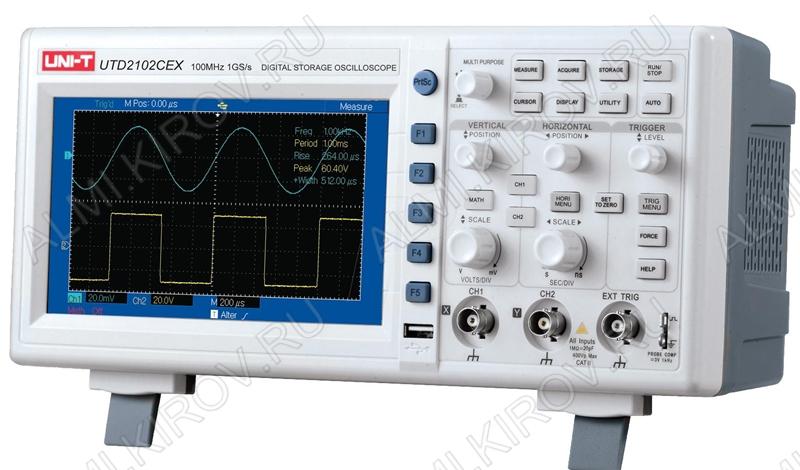 Осциллограф UTD2052CEX цифровой, 50MHz, 2-канальный, цветной ЖК-дисплей