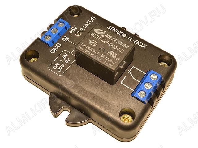 Радиоконструктор Модуль реле 1 канал 5В SR0039-1L-BOX (коммутация до 240В 10А)