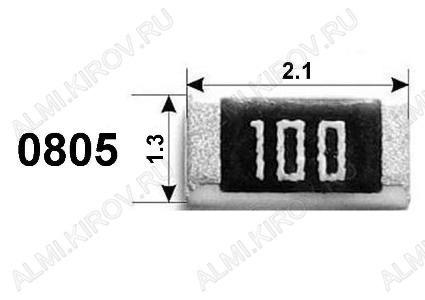Резистор RC0805J10K   10 кОм Чип 0805 5%