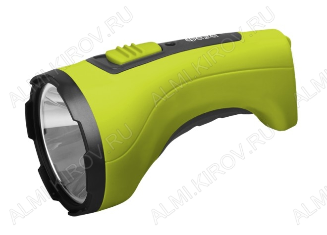 Фонарь аккумуляторный AccuF2-L3W-gn светодиодный (зел./черн.) 1LEDx3Watt; питание аккум. 4V 0.7Ah (в комплекте); встроенное зарядное устройство с вилкой 220V