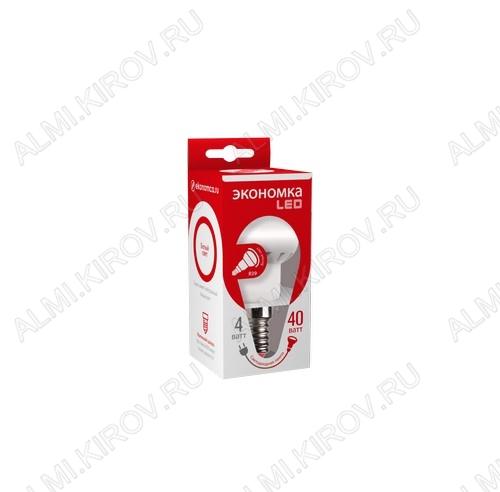 Лампа светодиодная 220В/  4Вт/ E14/ 4500К (дневной белый) (L336)/ 260Lm (Eco_LED4wR39E1445);