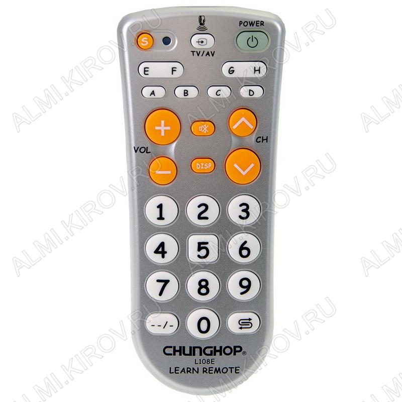 ПДУ УНИВЕРСАЛ RM-L108E TV/DVD/VCR/SAT/DVB