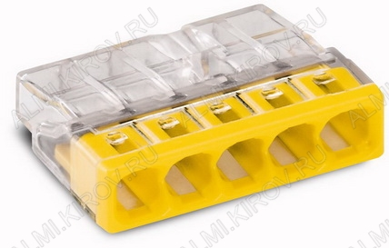 Клемма WAGO 2273-245 втычная с пастой 5x2.5мм (0.5-2.5мм) 380V; 24A; паста Alu-Plus