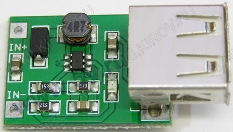 Радиоконструктор Преобразователь DC/DC в 5В(0,6А) из 0,9...4,4В (RP003) Повышающий. Частота преобразования: 1,4 МГц; Защита выхода от короткого замыкания;Для питания электронных устройств от аккумулятора 3,7В