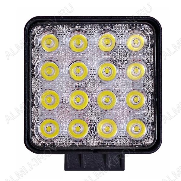 Фара светодиодная 48W квадратная (арт. G8043) направленного света