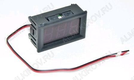 Радиоконструктор Вольтметр цифровой 4,5...30В RI028 встраиваемый (зелёный) Модуль вольтметра предназначен для встраивания в приборную панель. Модуль питается от измеряемого напряжения.