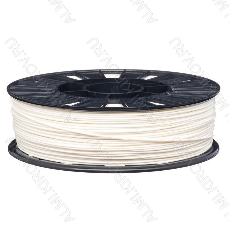 ABS пластик для 3D принтера 1.75мм. Белый. (6051) 1кг.; Материал: Акрилонитрилбутадиенстирол; Плотность: 1,05 г/см; Темп. экструзии: 230 - 240 °С; Тепл. изделия: 105 °C; Производитель:  (ФДпласт)