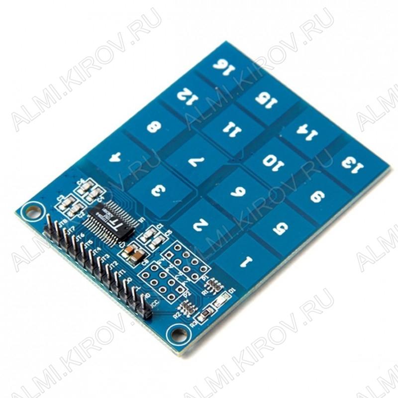 Модуль Клавиатура сенсорная  TTP229 Рабочее напряжение: 2.4В - 5.5В; Размер: 49 х 65 мм