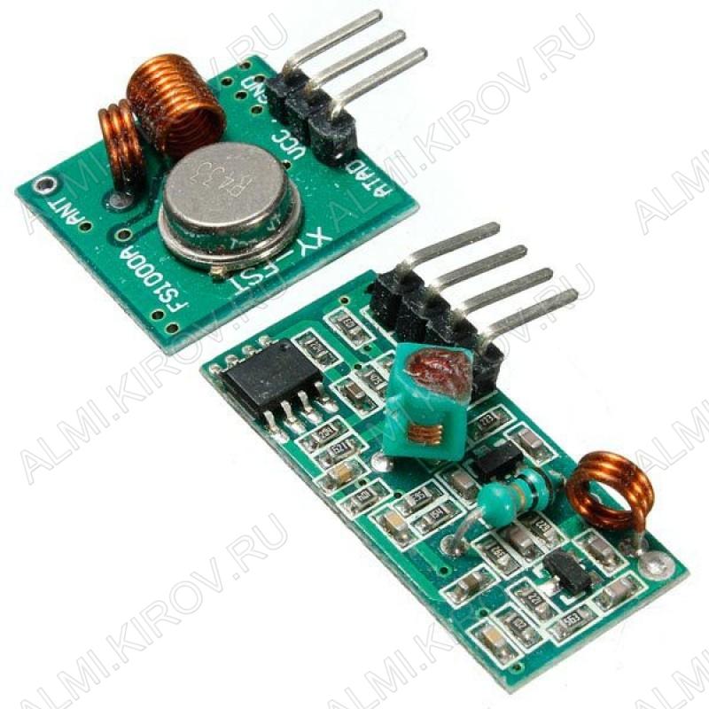 Радиоконструктор Передатчик+приёмник 1 канал XY-MK-5V (433МГц, 20...200м, для небольших проектов) Расстояние передачи от 20 до 200 метров