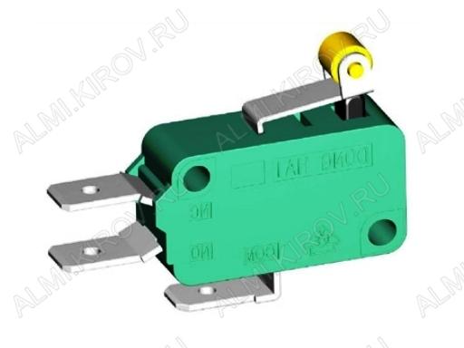 Переключатель RWA-306 пластина+ролик 16.0A/250V; 3 pin
