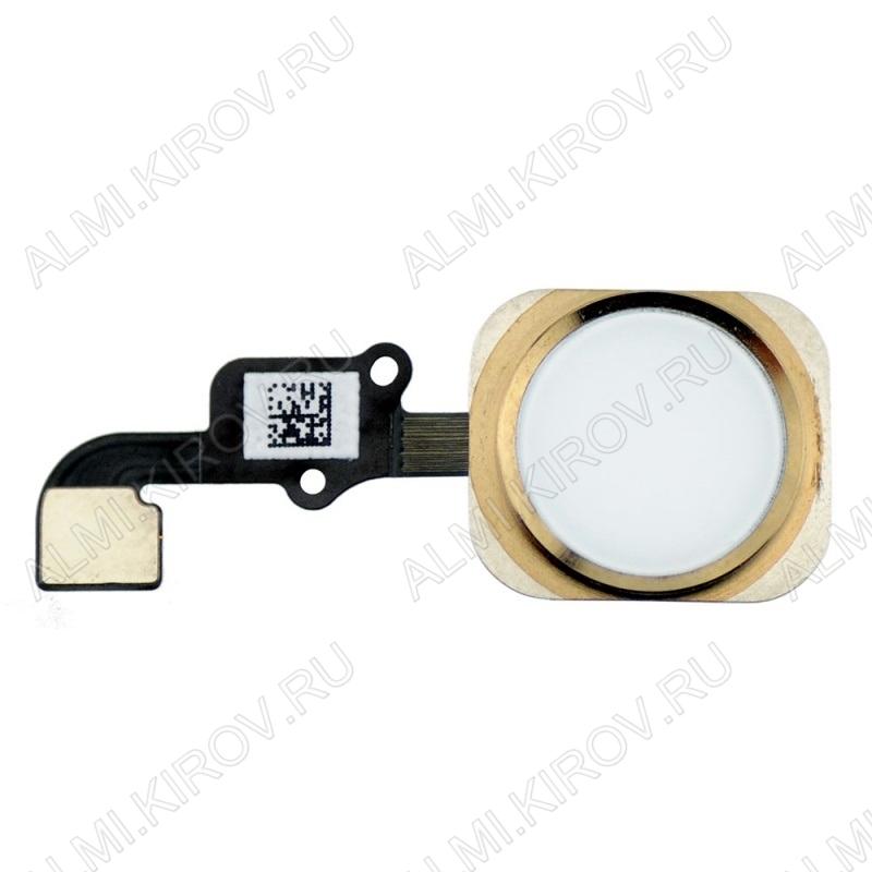 Шлейф для iPhone 6S+кнопка HOME золото