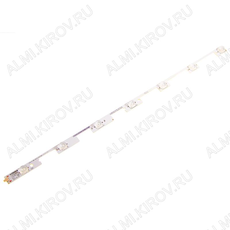Mодуль подсветки LED TV 590*20мм 7 линз; LED55M1600B (35019617) 3V; шаг 90mm; 55