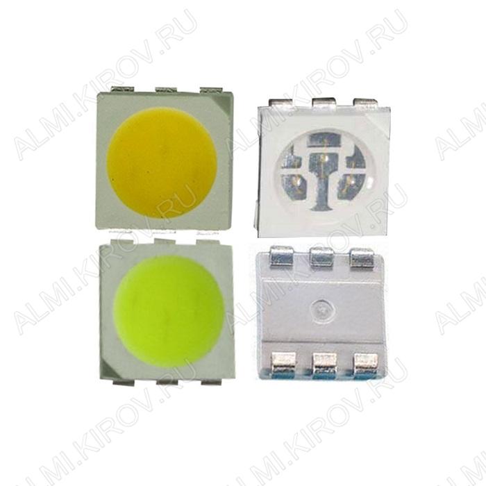Светодиод 26053 PLCC-6  SMD2020(5050) RGB 500mcd/1000mcd/500mcd 120°; 60mA; 620nm/520nm/460nm; прозрачный