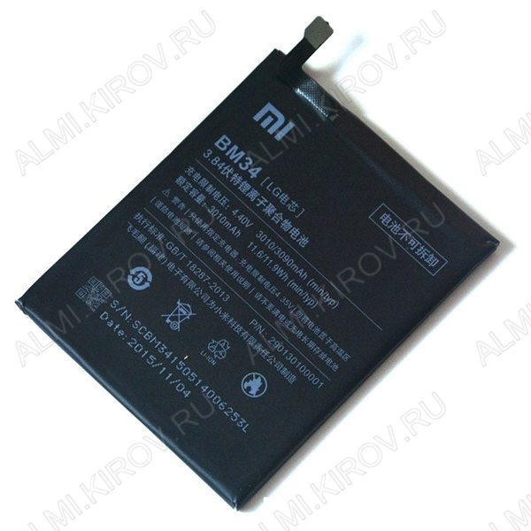 АКБ для Xiaomi Mi Note Pro Orig BM34