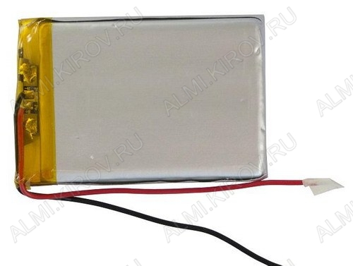 Аккумулятор 3.7V LP408550-PCB-LD 2500mAh Li-Pol; 85*50*4.0мм                                                                                                               (цена за 1 аккумулят