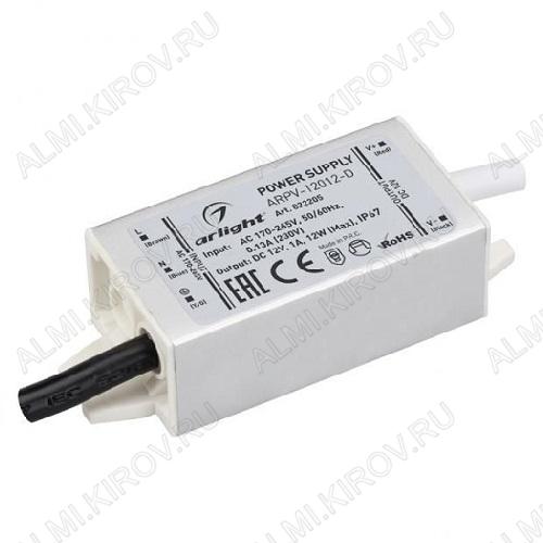 Модуль AC/DC ARPV-12012-D (022205)   12V 1A 12W 80*30*20мм; герметичный; металл; провода
