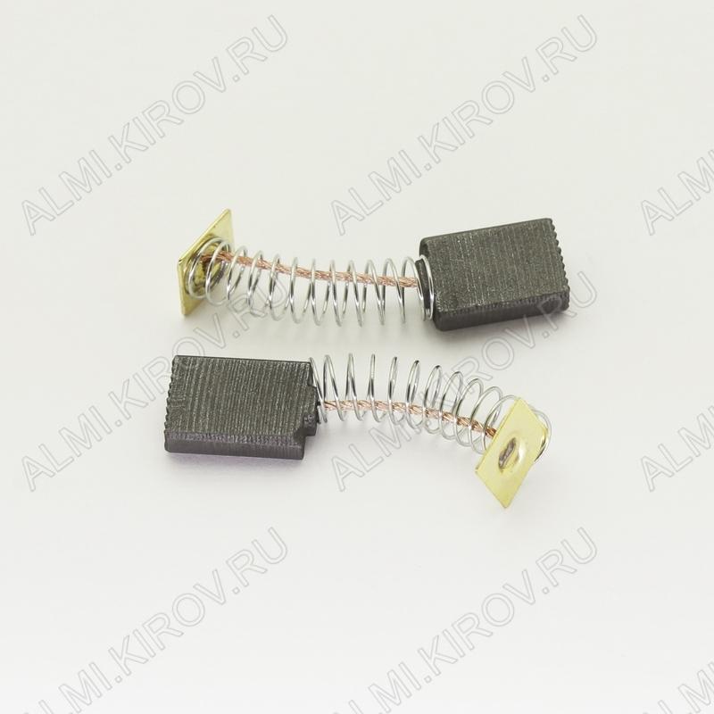 Щетки графитовые 5х11х13.5 (558) пружина, пятак, (2 шт) для Интерскол ДУ-1000Wt