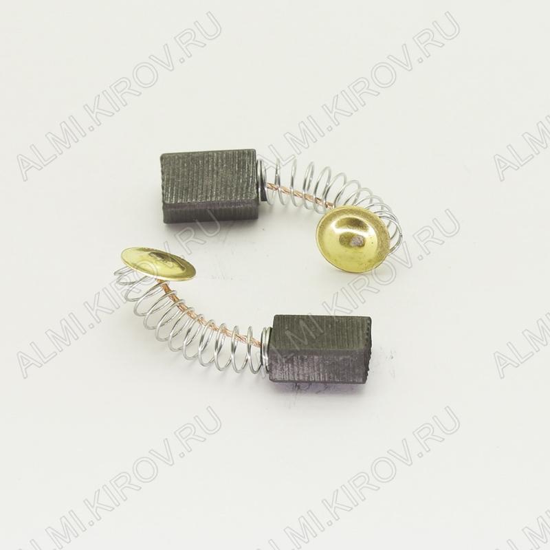 Щетки графитовые 5х8х11 (576) пружина, пятак, (2 шт) для Интерскол ДУ-350550