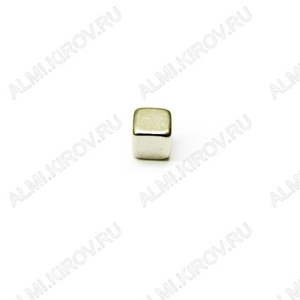 Неодимовый магнит призма 5х5х5 мм Сила сцепления 0.95кг; вес 0.9гр;