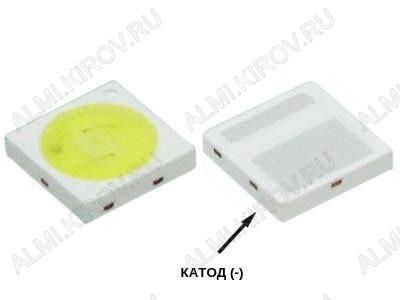 Светодиод SMD 3030; 6V; 200mA; 10000K; Double Chips (холодный белый) 6V; 2pin; широкий: катод(-); для модулей подсветки LED TV