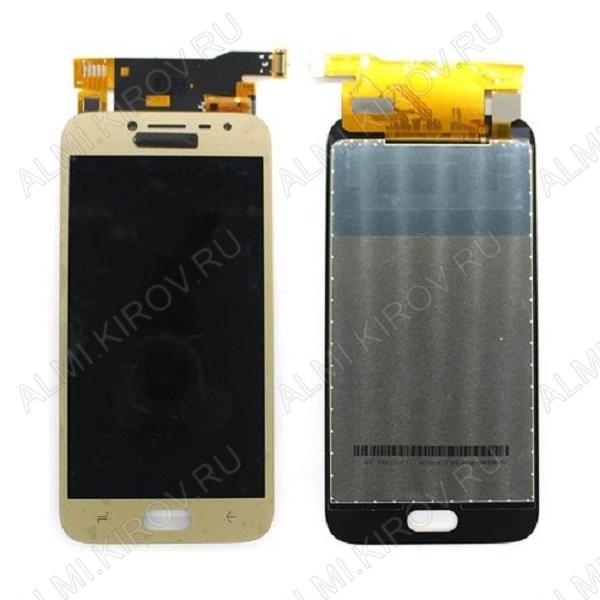 Дисплей для Samsung J250F Galaxy J2 (2018) + тачскрин золото, копия (яркость регулируется)