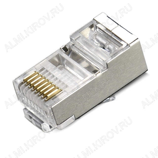 Разъем (2315) TP-8P8C (RJ-45) Cat6 экранированный (6-019) Вилка на кабель, 8*8