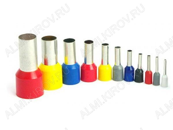 Наконечник (№15) штыревой втулочный НШВИ 4.0-9 изолированный сечение 4.0 мм2; F=9.0 мм; серый