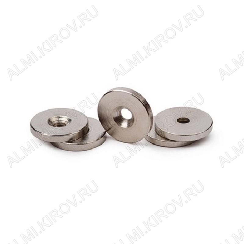 Неодимовый магнит кольцо 15х3 с зенковкой 3.5/7 Сила сцепления 3.3кг; вес 3.3гр;