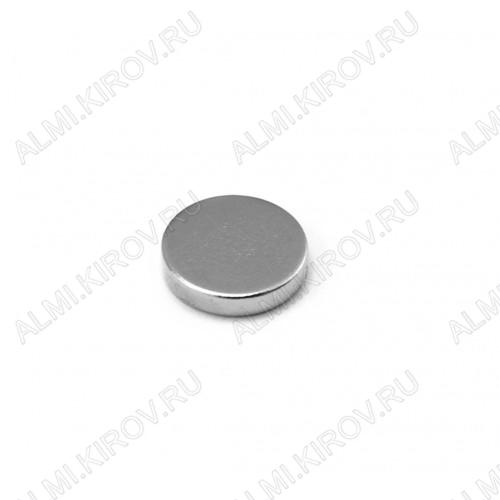 Неодимовый магнит диск 10х2 мм Сила сцепления 1кг; вес 1.2гр;