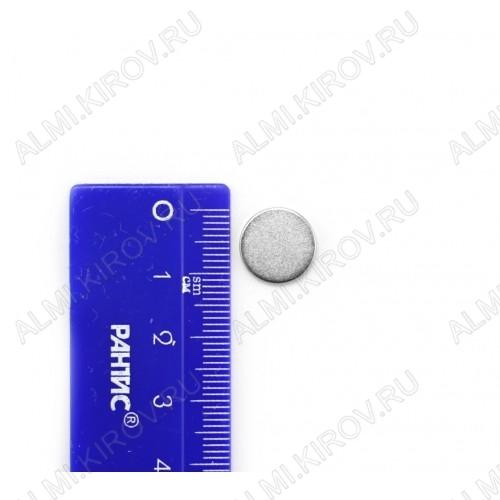 Неодимовый магнит диск 12х2 мм Сила сцепления 1.5кг; вес 1.5гр;
