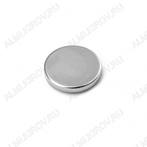 Неодимовый магнит диск 20х3 мм Сила сцепления 3.7кг; вес 7гр;