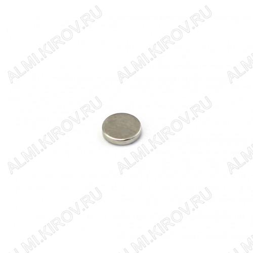 Неодимовый магнит диск 5х1 мм Сила сцепления 0.12кг; вес 0.15гр;