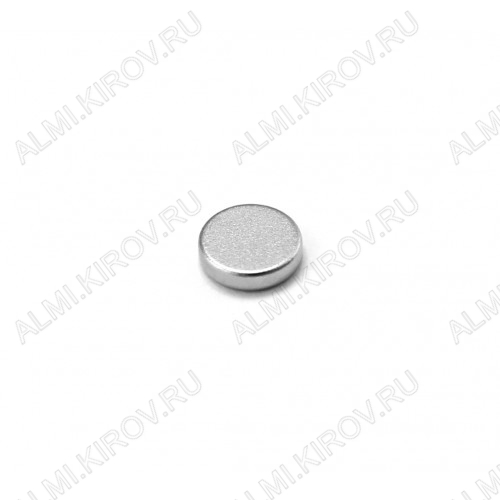 Неодимовый магнит диск 8х2 мм Сила сцепления 0.9кг; вес 0.76гр;