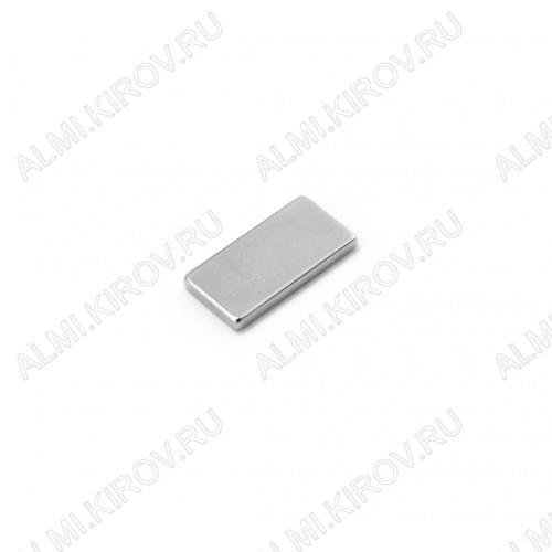 Неодимовый магнит призма 20х10х2 мм Сила сцепления 2кг; вес 3гр;