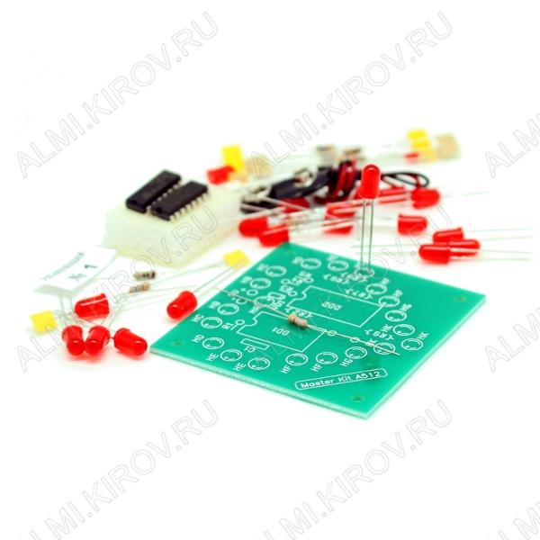 Радиоконструктор Маленькое сердце на светодиодах NS073 Напряжение питания 9В; Ток потребления 100мА; Печатная плата 60х63мм
