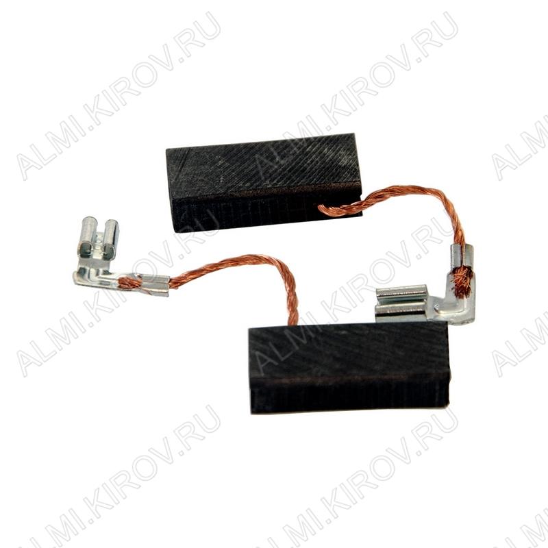Щетки графитовые 5х8х19 (541) поводок, клемма, выход сбоку (2 шт) для Bosch GBH 2-26DS
