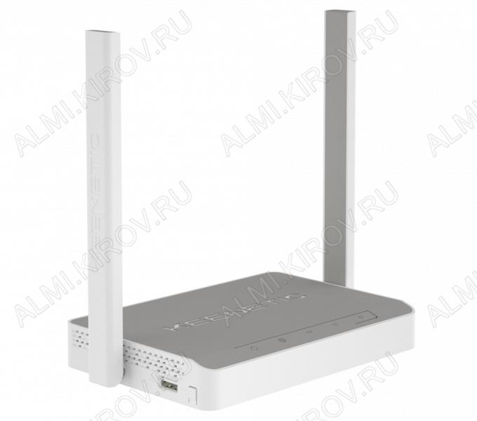 Wi-Fi Маршрутизатор Keenetic Omni (KN-1410) Порт USB 2.0, поддержка 3G/4G, USB-принтеров и USB-дисков, 2 внешние антенны Wi-Fi (5дБ), 5 разъемов RJ-45, точка доступа Wi-Fi, 300 Мбит/с, белый кор