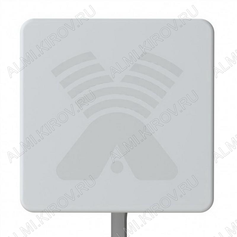 Антенна стационарная ZETA MIMO 2x2 для 3G/4G USB-модема 2G/3G/4G/LTE/WIFI; 1700-2700 MHz; 17.5-20dB; без кабеля; 2 разъема N-гнезда