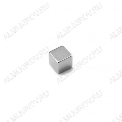 Неодимовый магнит призма 10х10х10 мм Сила сцепления 4.5кг; вес 7.5гр;